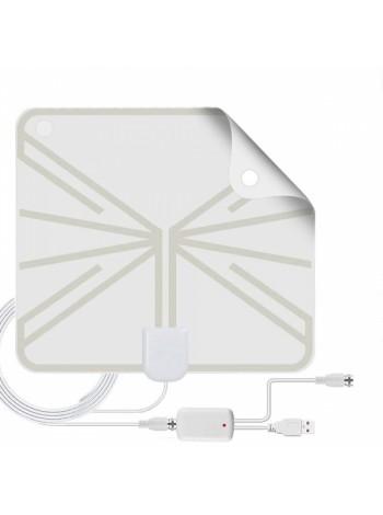Антенна для цифрового ТВ комнатная с усилителем Орбита TD-017
