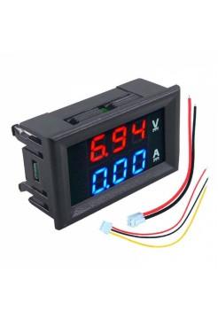 Вольтамперметр цифровой встраиваемый DCN-VC288 (DC 0-100В 0-10A)