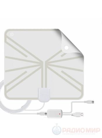 Антенна для цифрового ТВ комнатная с усилителем Орбита OT-ANT03