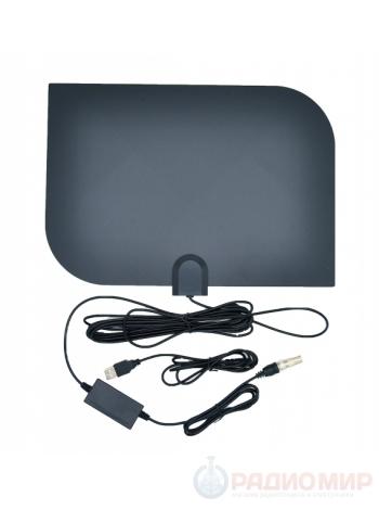 Антенна для цифрового ТВ комнатная с усилителем Орбита OT-ANT04