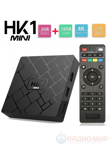 Smart ТV приставка (Android TV Box) HK1 Mini