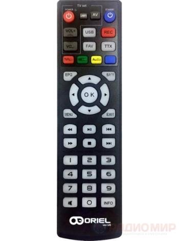 Универсальный пульт для DVB-T2 приставки Oriel