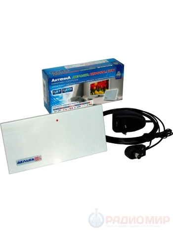 Антенна для цифрового ТВ комнатная ДЕЛЬТА ЦИФРА.12V MAX активная