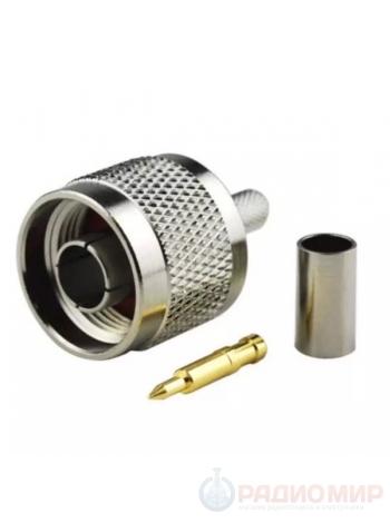 N-111/5D высокочастотный разъем N вилка обжимной, под кабель 5D-FB, RG-8X