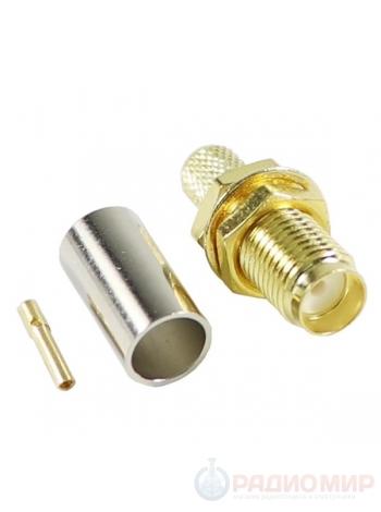 S-211/5D высокочастотный разъем SMA розетка обжимной, под кабель 5D-FB/RG-8X