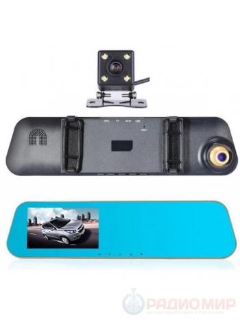 Видеорегистратор зеркало с камерой заднего вида TDS TS-CAR12