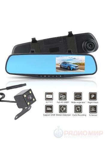 Видеорегистратор зеркало с камерой заднего вида TDS TS-CAR13