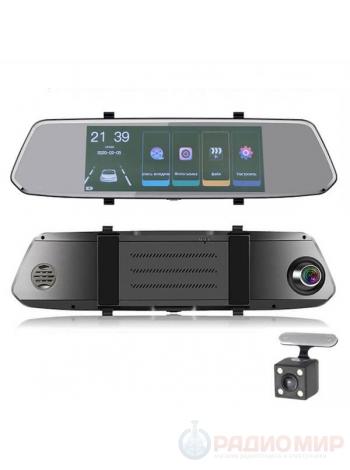 Видеорегистратор-зеркало c камерой заднего вида TDS TS-CAR41