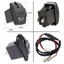USB разъем с 2 портами врезной CAU46