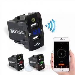USB разъем c вольтметром и Bluetooth врезной для Honda CAU51