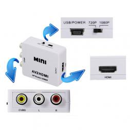 Переходник RCA-HDMI (AV to HDMI)