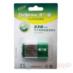 6F22 аккумулятор Крона 230мАч Delipow