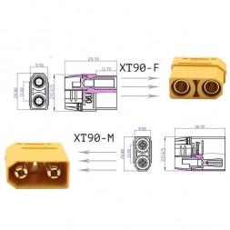 Разъем XT-90 2pin, 90А (папа+мама)