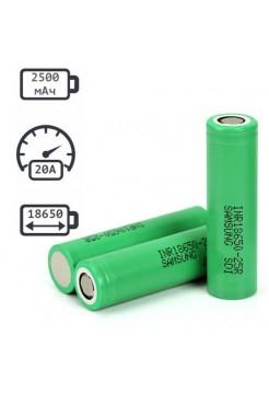 18650 2500мАч аккумулятор Samsung INR18650-25R 20A