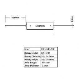 Батарейка ER 14505 CNA Robiton