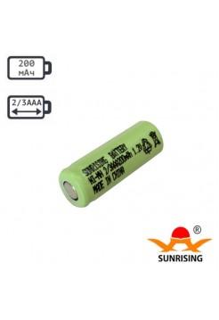 2/3ААА аккумулятор 200мАч Ni-Cd Sunrising