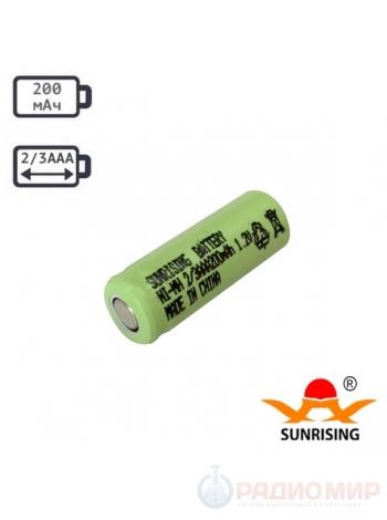Аккумулятор 2/3AAA 300мАч Ni-Cd SunRising