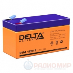 12В аккумулятор  1,2Ач Delta DTM 12012