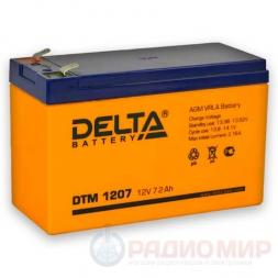 12В аккумулятор  7Ач Delta DTM 1207