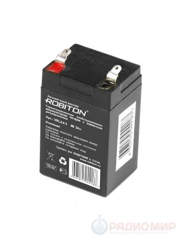 Аккумулятор свинцово-кислотный 4В / 3Ач Робитон
