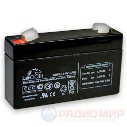 6В аккумулятор  1,3Ач Leoch DJW6-1.3