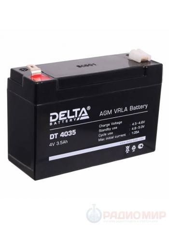 Аккумуляторная свинцово-кислотная батарея 4В 3,5 Ач Delta DT 4035
