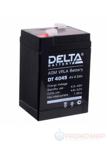 4В аккумулятор 4,5Ач Delta DT 4045