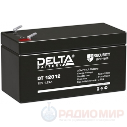 12В аккумулятор  1,2Ач Delta DT 12012