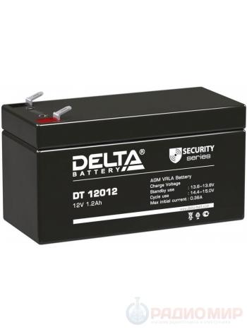 Герметичная свинцово-кислотная аккумуляторная батарея 12В 1,2Ач DT 12012