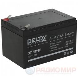 12В аккумулятор 12Ач Delta DT 1212