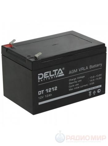 Аккумулятор свинцово-кислотный 12В / 12Ач Delta DT 1212