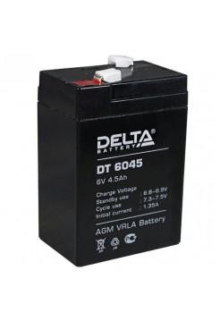 6В аккумулятор  4,5Ач Delta DT 6045