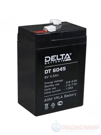 Аккумулятор свинцово-кислотный 6В / 4,5Ач Delta DT 6045