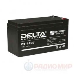 12В аккумулятор  7Ач Delta DT 1207