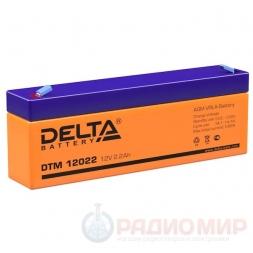 12В аккумулятор  2,2Ач Delta DTM 12022