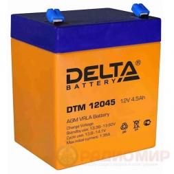 12В аккумулятор  4,5Ач Delta DTM 12045