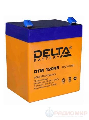 Cвинцово-кислотная аккумуляторная батарея 12В 4,5Ач Delta DTM 12045