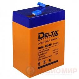 6В аккумулятор  4,5Ач Delta DTM 6045