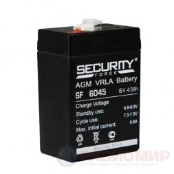 6В аккумулятор  4,5Ач Security Force SF 6045