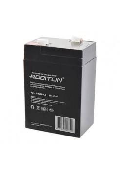 6В аккумулятор  4,5Ач Robiton VRLA6-4.5