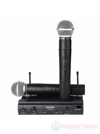 Комплект микрофонов (2штуки) Weisre PGX-58
