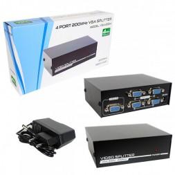 VGA 1→4 разветвитель активный VGA-2004