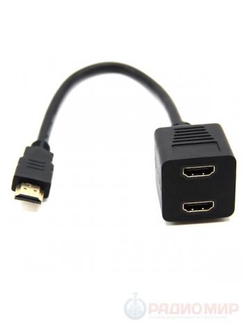 HDMI делитель на 2 монитора телевизора Rexant 17-6832