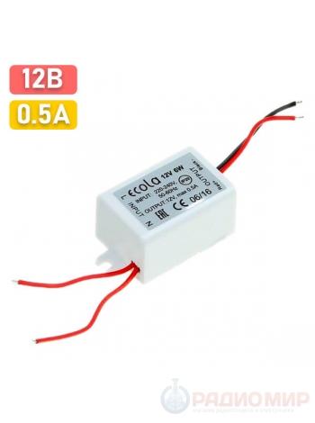 Блок питания 12В 6Вт IP20 Ecola B2M0036ESB