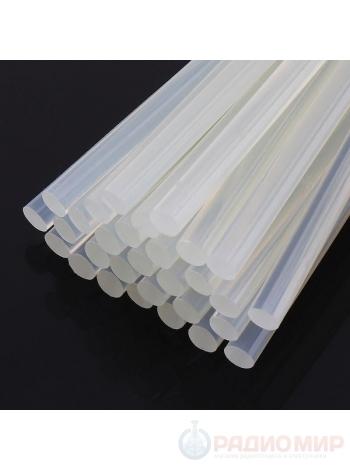 Стержни для термоклея прозрачные диаметром 8мм и длиной 300мм