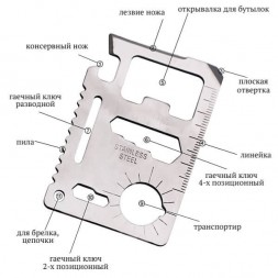 Универсальный инструмент нож-карта NT-201