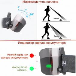 Налобный фонарь с USB зарядкой PT-FLG39
