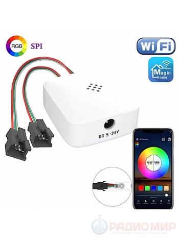 Wi-Fi контроллер на 2 порта для адресной RGB ленты OG-LDL30