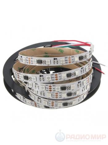 Адресная светодиодная RGB лента 5050 30шт/м открытого типа