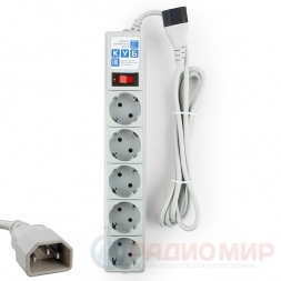 Сетевой фильтр для UPS 1.9 метра 10A PowerCube SPG-B-6Ext